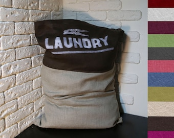 Laundry Bag, Laundry Hamper, Laundry Bag College, Linen Laundry Bag, Linen Bag, Large Linen Bag, Travel Laundry Bag, Mother's Day Gift