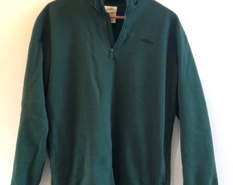 Vintage 90s Adidas pullover - forrest green