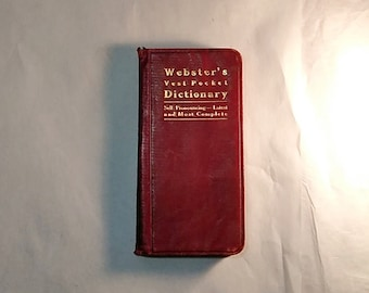 1890's Webster's Vest Pocket Dictionary
