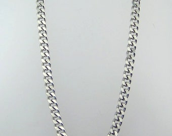 Finished Stainless Steel Curb Chain You Choose Length 4.5 mm wide x 3 mm thick