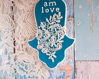 Judaica gift for housewarming, Hamsa decor, Hamsa wall hanging, Hamsa, Jewish home decor, Good vibes only, Wall hamsa, Jewish gift