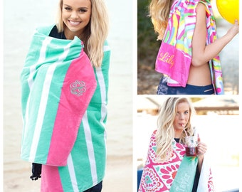 Monogram Beach Towel, Personalized Beach Towel, Beach Towel, Monogram Pool Towel, Personalized Pool Towel, Pool Towel, Custom Beach Towel