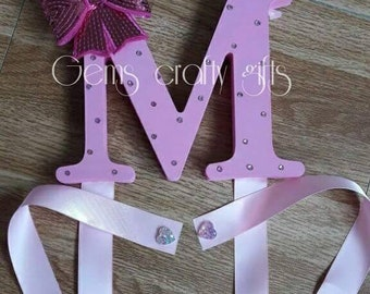 Hair Bow holder, Hair bows, Bow holder, Hair care, Bows, Hair clips, Hair bow organizer, any Initial, any colours