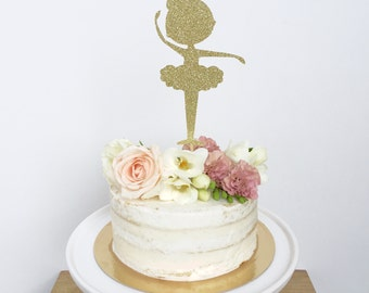Ballerina Cake Topper Birthday, Birthday Girl, Ballet Dancer, Tutu, Ballet , Dancing Girl, Tiny Dancer, Dance Party
