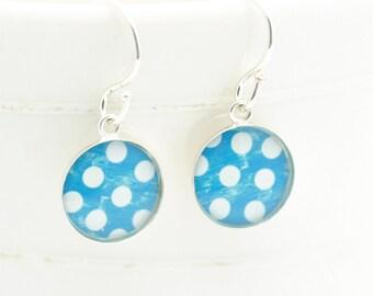 Polka Dot Earrings | Boho Earrings | Sterling Drop Earrings | Dainty Earrings | Gifts For Her | Gifts Under 40 | Mothers Day Gift