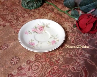 KNOWLES TAYLOR & KNOWLES, vintage saucer, replacement, retro, saucer, plate, vintage, KTandK, collectibles, home decor, shabby chic, roses