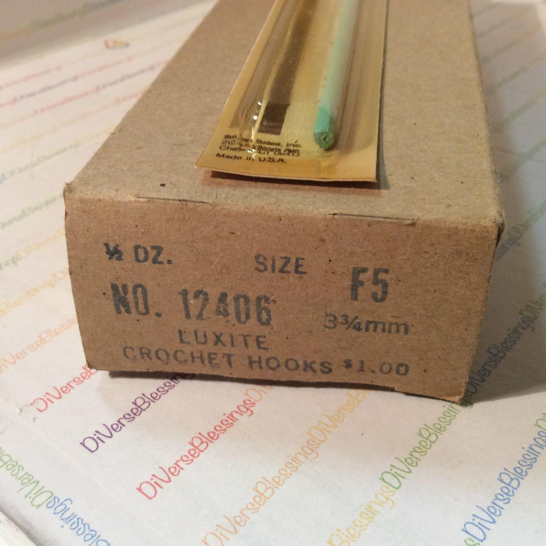 Wholesale Lot, Box of 6, NOS, Susan Bates, Size F 5, Luxite Plastic ...