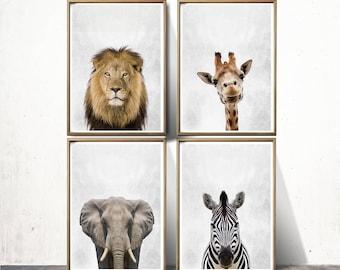 Nursery Prints Safari Nursery Art Print  Nursery  Safari Prints Safari Wall Art Nursery Safari Nursery Animals Zebra Print Elephant Print