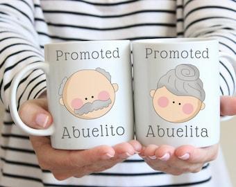 Pregnancy announcement en Español, Abuela gift, Abuelo gift, Abuelita gift, or Abuelito gift, Spanish pregnancy announcement