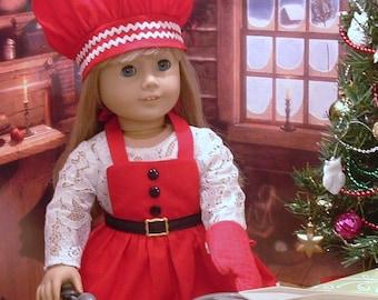 Little Santa Cook Set for American Girl Dolls