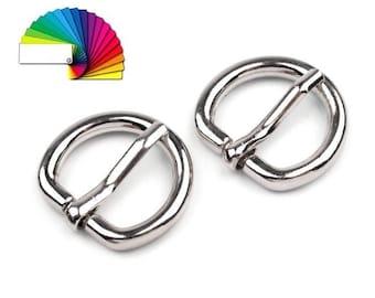 2 loops belt 12 mm silver or bronze
