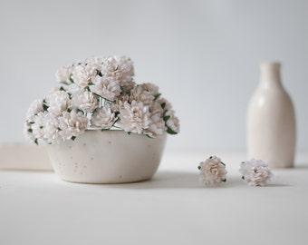 Paper Flower,50 pieces big baby breath, white color.