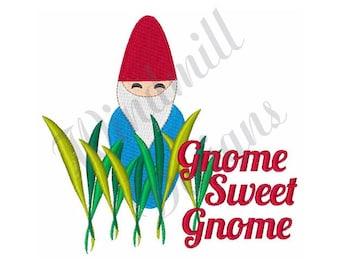 Gnome Sweet Gnome - Machine Embroidery Design
