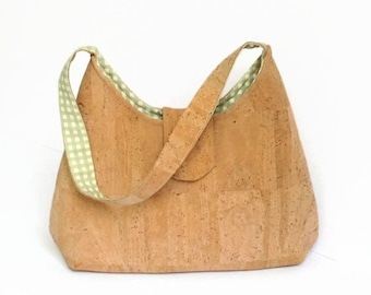 Cork Natural Eco Friendly Handmade Purse Shoulder Bag