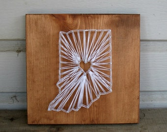 MADE TO ORDER Custom String Art Any State Sign