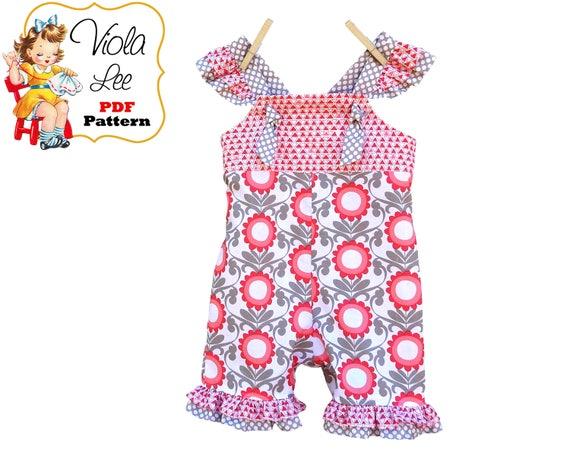 Baby Romper Sewing Patterns Girls Romper Pattern Girls