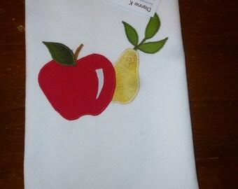 Tea Towel Apple and Pear (633)