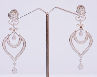 Indian Earrings Silver Plated Designer Collection Bollywood Style Women Fashion