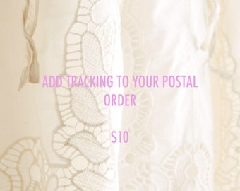 Add A Tracking Number To Your Postal Order!