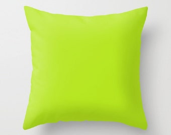 Lime Indoor Throw Pillow Lime Green Pillow Lime Pillow Cover Lime Sofa Pillow Lime Living Room Pillow