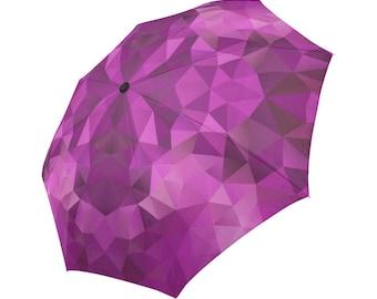 Purple Umbrella Designed Umbrella Geometric Pattern Umbrella Rainbow Umbrella Photo Umbrella Automatic Abstract Umbrella Abstract Umbrella