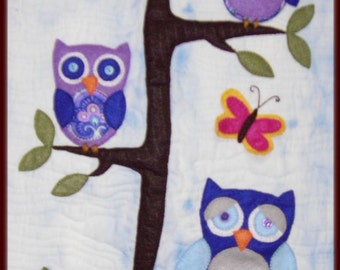 Little Hooters - pdf wall hanging pattern