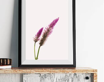 Purple Flower Poster Instant Download, Printable Wall Art, Flower Print, Purple Floral Wall Art, Floral Photography Print, Digital Download