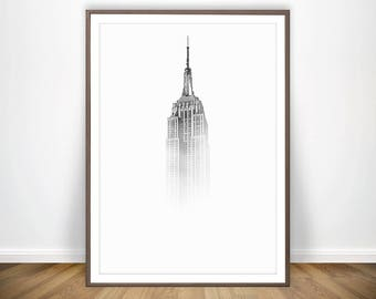 Empire State Building Print * New York Print Building Photography NYC Print New York City Poster New York Wall Art NYC Skyline City Prints