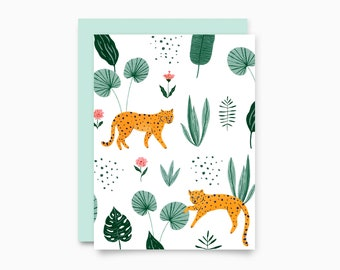 Jungle Pattern Greeting Card