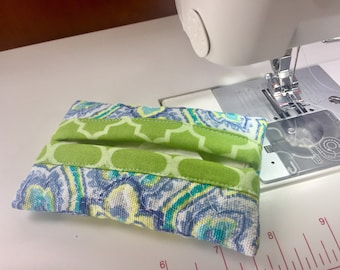 Green And Blue Tissue Case