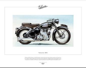 VELOCETTE MSS - Motorcycle Fine Art Print - 500cc Single-cylinder OHV motorbike