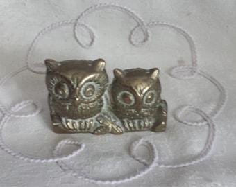 Small Brass owls.