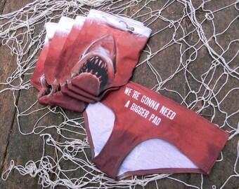 Shark Attack Period Panties bikini underwear organic cotton lingerie women's underwear