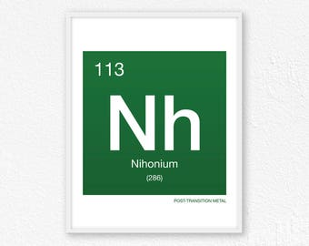 113 Nihonium, Periodic Table Element | Periodic Table of Elements, Science Wall Art, Science Poster, Science Print, Science Gift