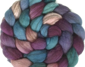 Handpainted Heathered BFL Wool Roving - 4 oz. HAWAII - Spinning Fiber