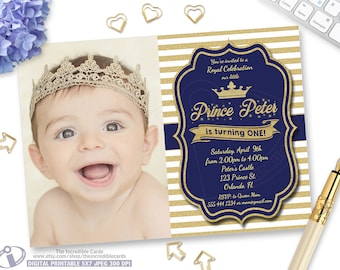 Prince invitation Etsy