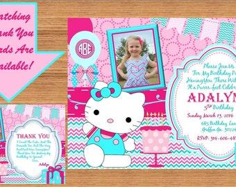 Hello Kitty Invitation, Hello Kitty Birthday, Hello Kitty Birthday Invitation, Hello Kitty Invite, Hello Kitty Party # Hello Kitty 00021