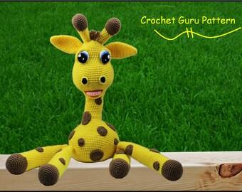 Crochet Animal Pattern - Giraffe Pattern - Amigurumi - Crochet Giraffe Pattern - Instant Download