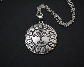 Celtic Tree Of Life Pendant Nordic Viking Runes Amulet necklace