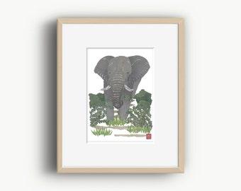 Elephant Art, Elephant Artwork, Elephant Wall Art, African Animal Art