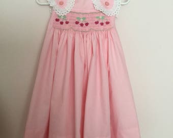 Hand smocked sundress . Size3
