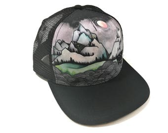 Minarets Mountain Trucker Hat