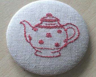 magnet / magnet for the fridge: teapot