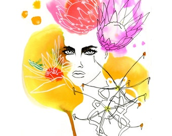 Fashion Illustration, Limited Edition Art Print, Watercolor Art, Fashion Art, Fashion Wall Art