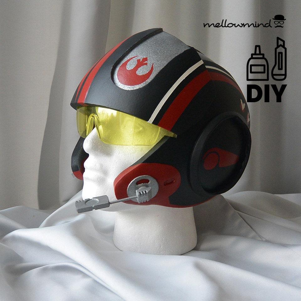 DIY Star Wars: The Force Awakens Poe Dameron Xwing helmet
