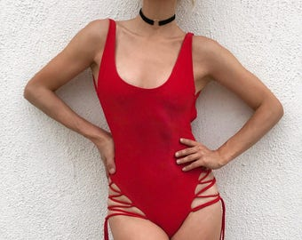 Andie lace- Up One Piece Swimsuit