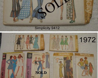 1970's Vintage Sewing Patterns