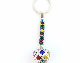 Olympic rings keychain - Olympic colors beads - Olympics - team - sports