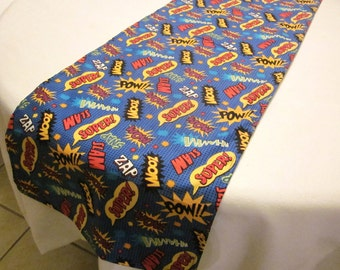 Superhero Party, Super Hero Table Runner, Birthday Party Decorations, Baby Shower, Wedding, Bridal Shower