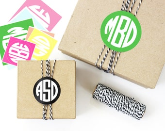 Wedding Favor Labels Personalized Monogram Stickers Custom Bridal Shower Gift Tags Favor Box Stickers Monogram Labels Wedding Favor Tags